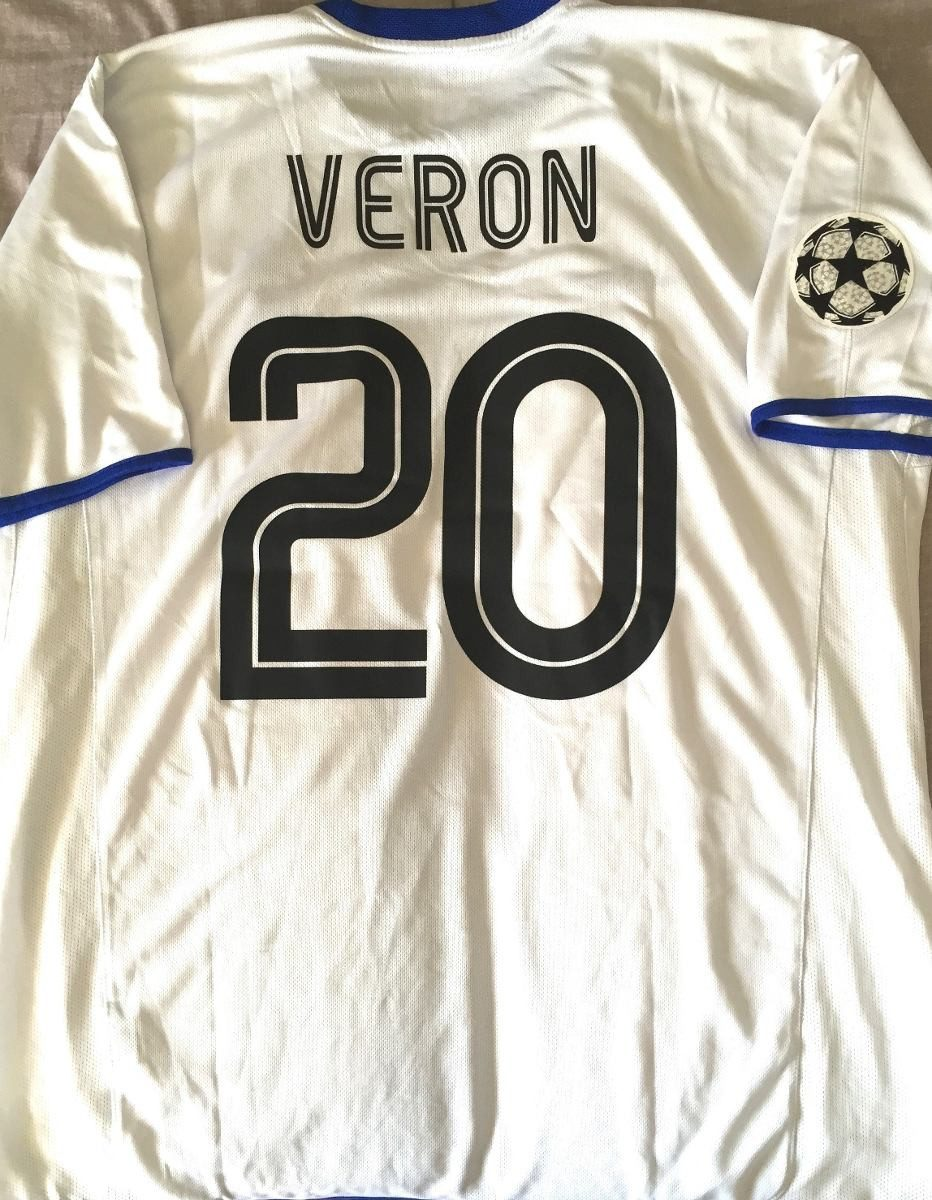 Camisa Do Chelsea 2002-03 Veron  20 Champions League Rara - R  399 ... c18f743b9bf39