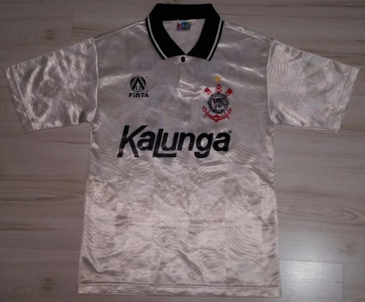 08d26f28ea Camisa Do Corinthians 1992 Kalunga  10 Tamanho 12 Finta - R  129