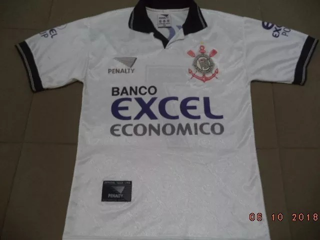 Camisa Do Corinthians 1997 - Oficial Penalty Banco Excel - P - R  99 ... ab1530ff85947