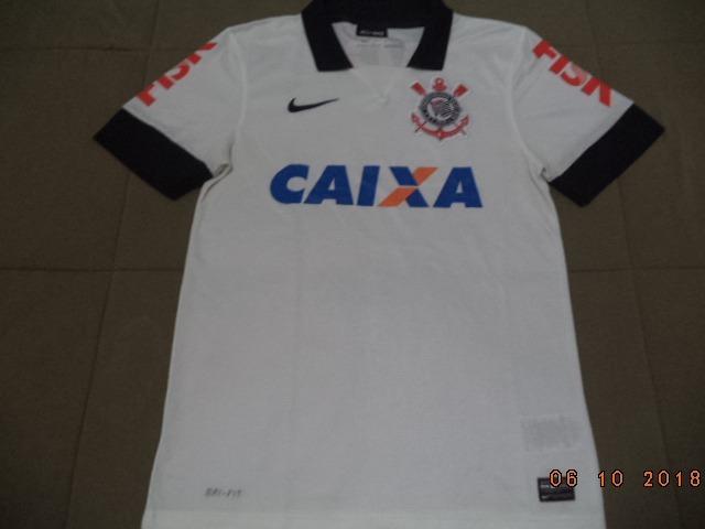 d6b5f7d7ca Camisa Do Corinthians 2013 - Oficial Nike Caixa Fisk - Tam P - R ...