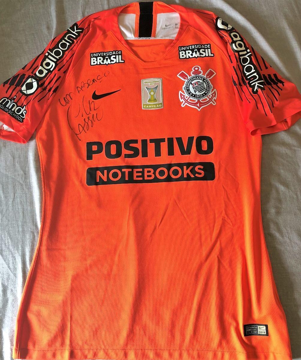 camisa do corinthians brasileirão 2018 cássio autografada. Carregando zoom. 8246bcbce1c03