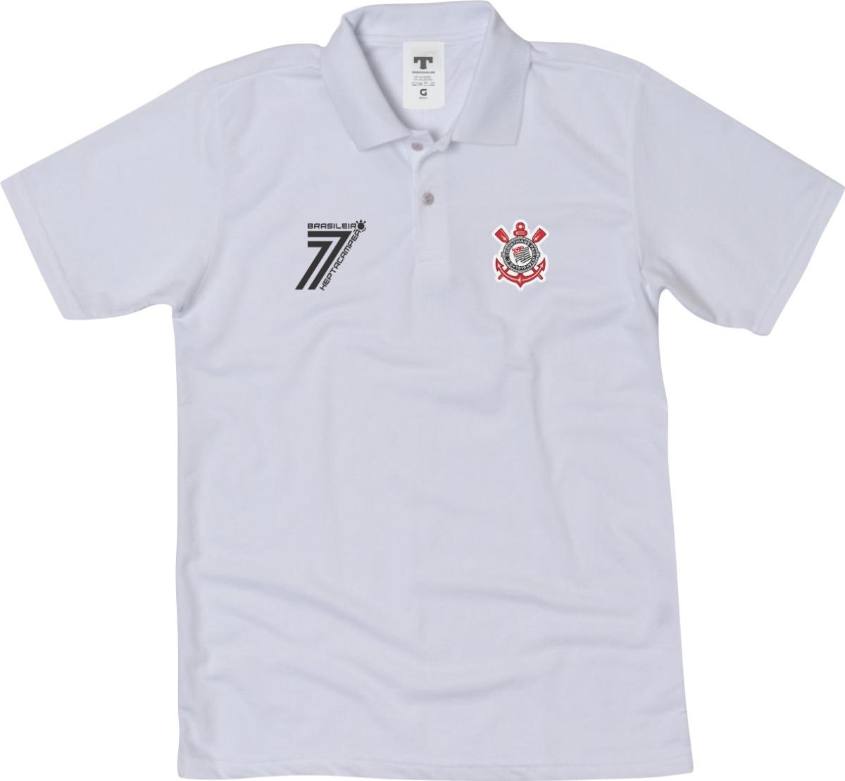 camisa do corinthians camiseta polo timão blusa polo timão. Carregando zoom. 958a74e72b748