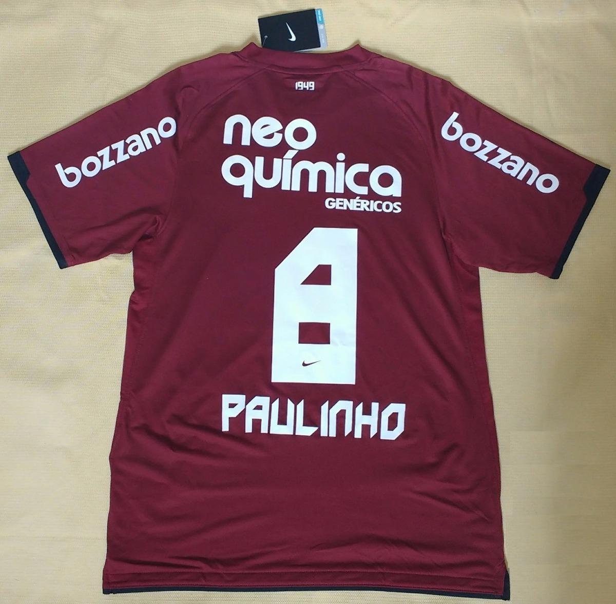 Camisa Do Corinthians Campeão Brasileiro 2011 Grená Paulinho - R ... 69fc15e034970