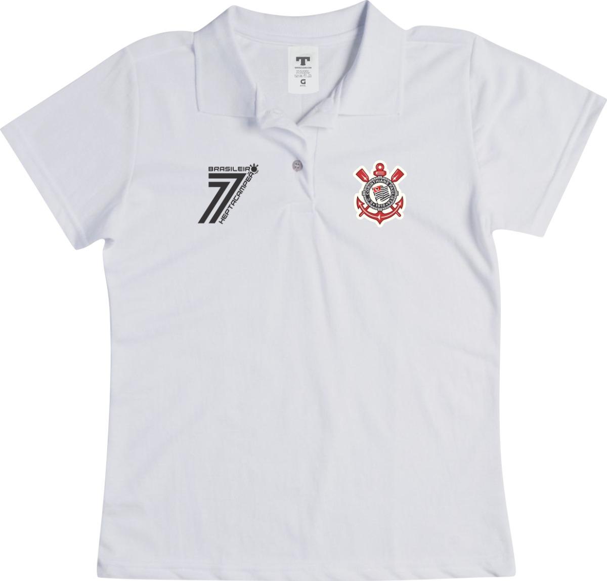 2e80f6456c camisa do corinthians feminina baby look preta blusa polo. Carregando zoom.