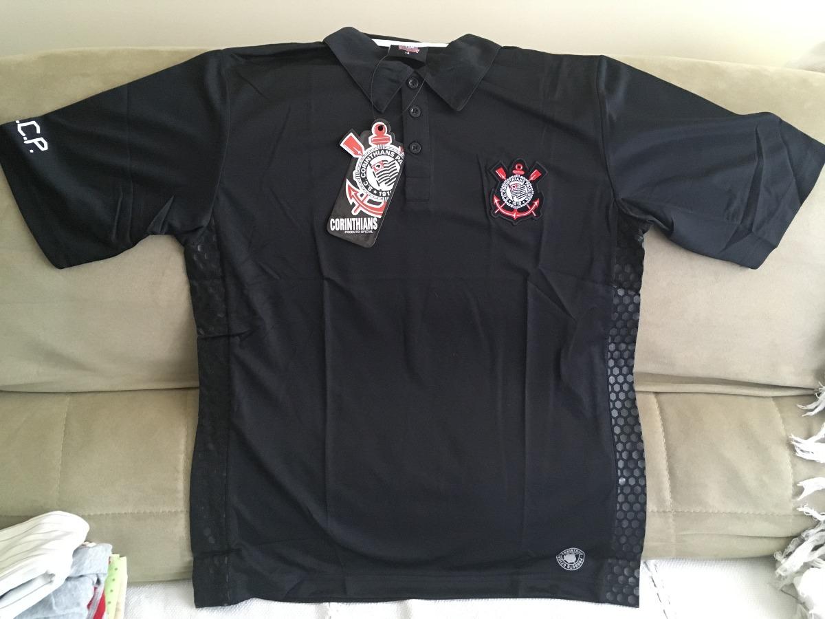 camisa do corinthians - gola polo preta. Carregando zoom. 50d3484f4f16f