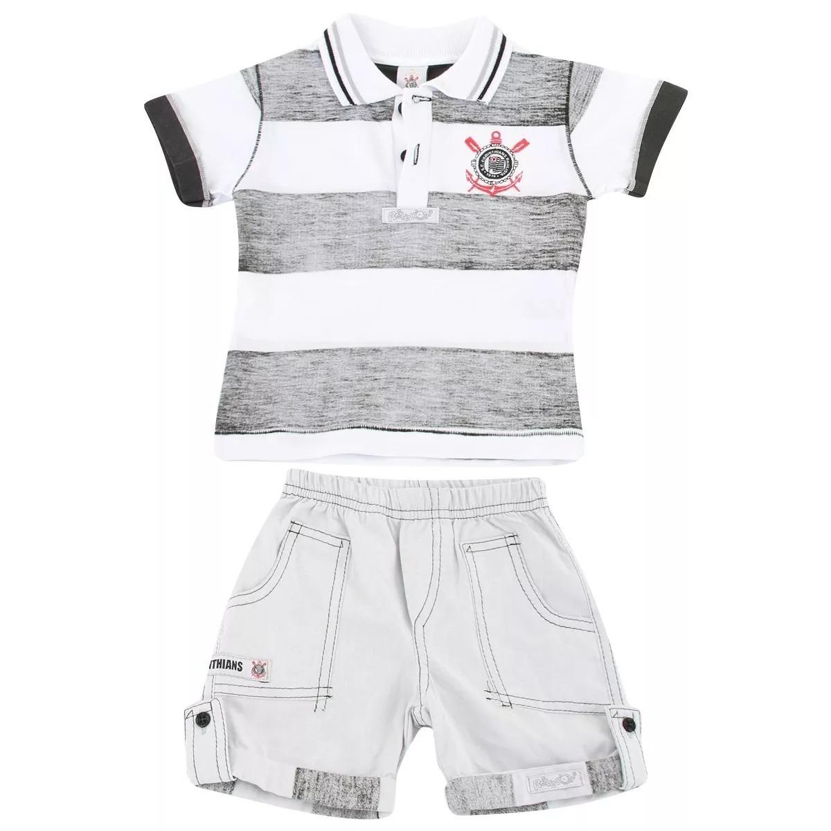 de6da4f193fbb camisa do corinthians infantil, polo + bermuda oficial. Carregando zoom.