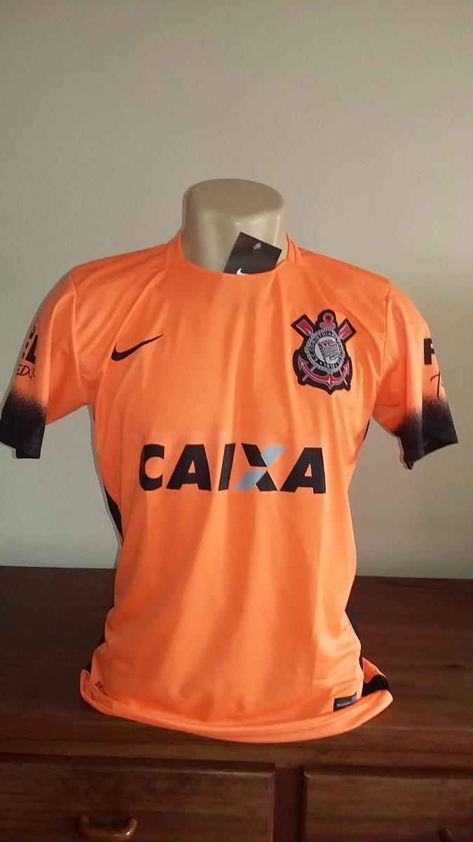 camisa do corinthians laranja lançamento 2015. Carregando zoom. d0fe265acbac6