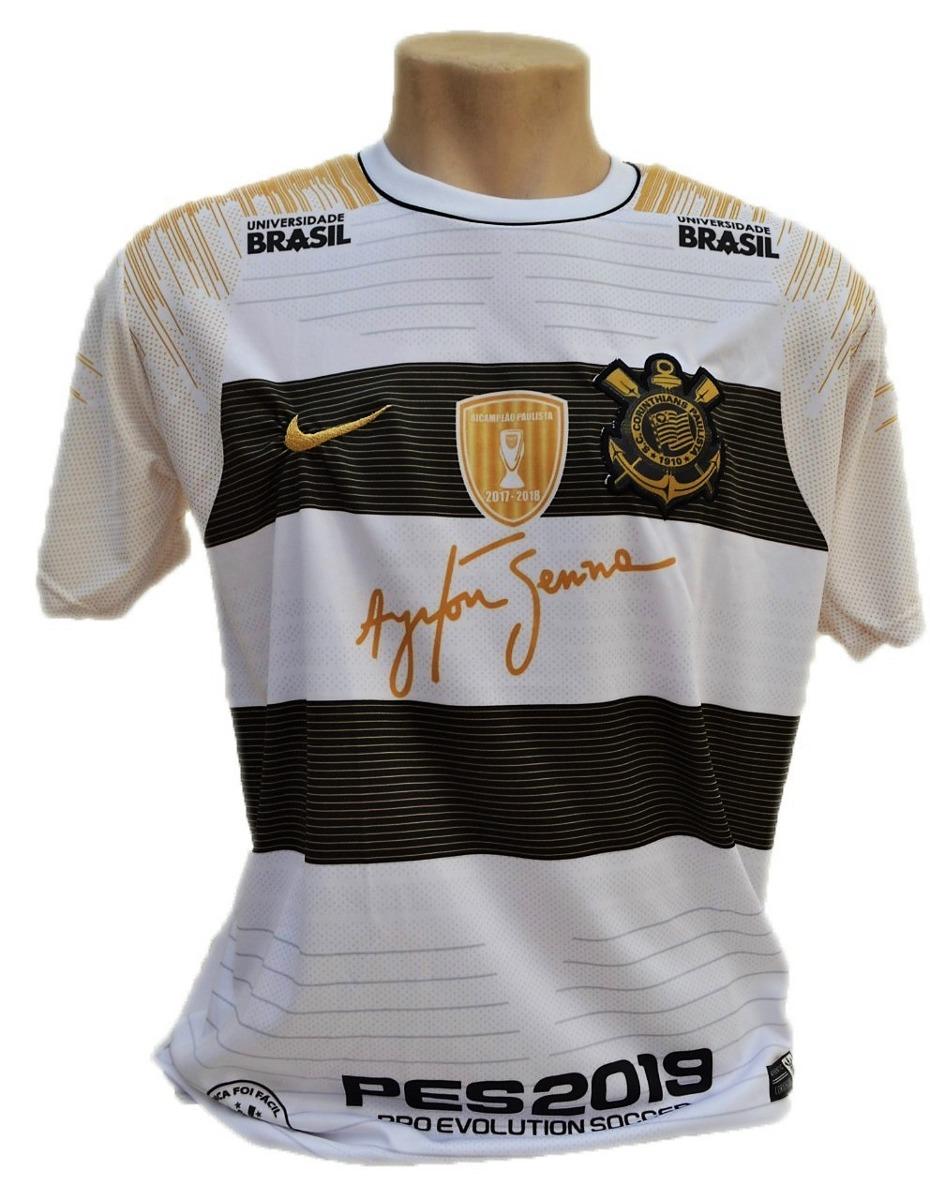 Camisa Do Corinthians Timão Nova Fiel Airton Sennal 2019 - R  24 5ee6c7354f71a