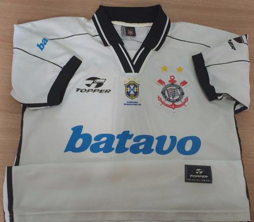 camisa do corinthians topper do zagueiro gamarra de 1999- 19