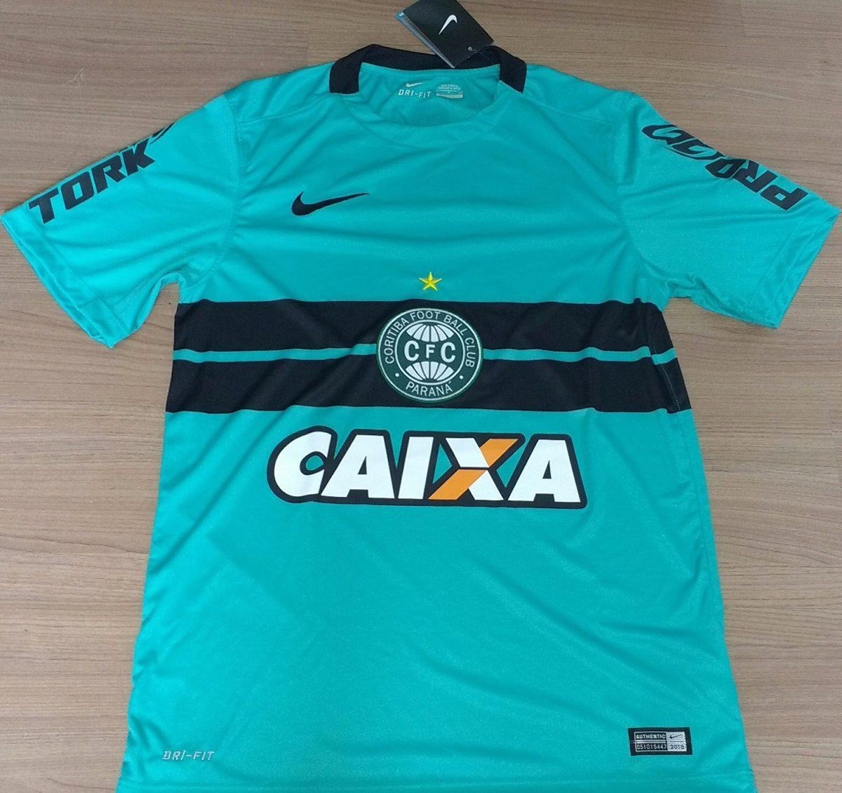 48449b0ca17f6 Camisa Do Coritiba 2015 100% Orig Nike + Brinde Meião - 13 - R  249 ...