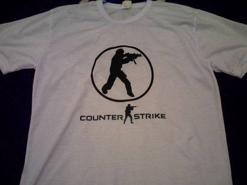 camisa do counter strike 1.6 vários modelo cs 1.6