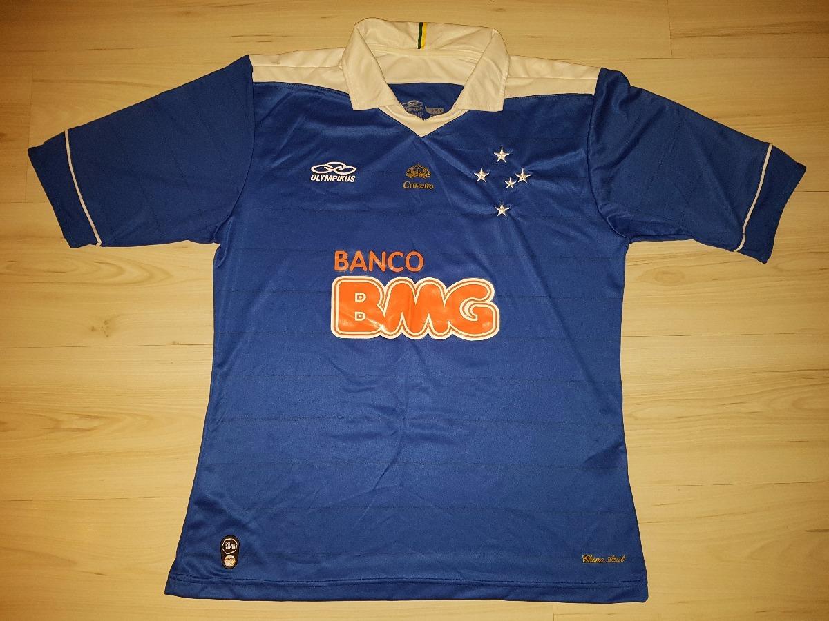 camisa do cruzeiro 2013 olimpikus  10 bmg china azul. Carregando zoom. 0e31a771cba59