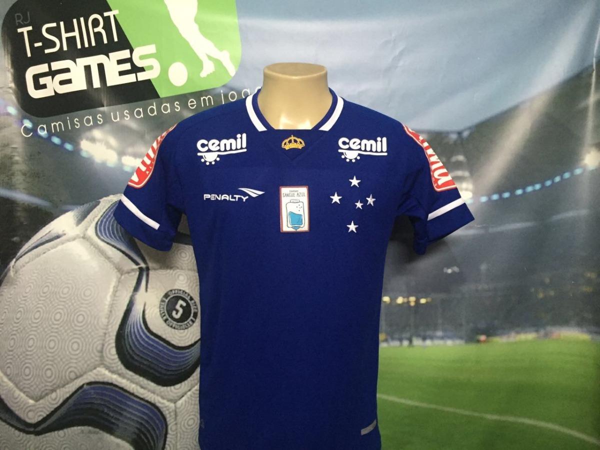 81984ff08b camisa do cruzeiro sangue azul usada no brasileirão 2015. Carregando zoom.