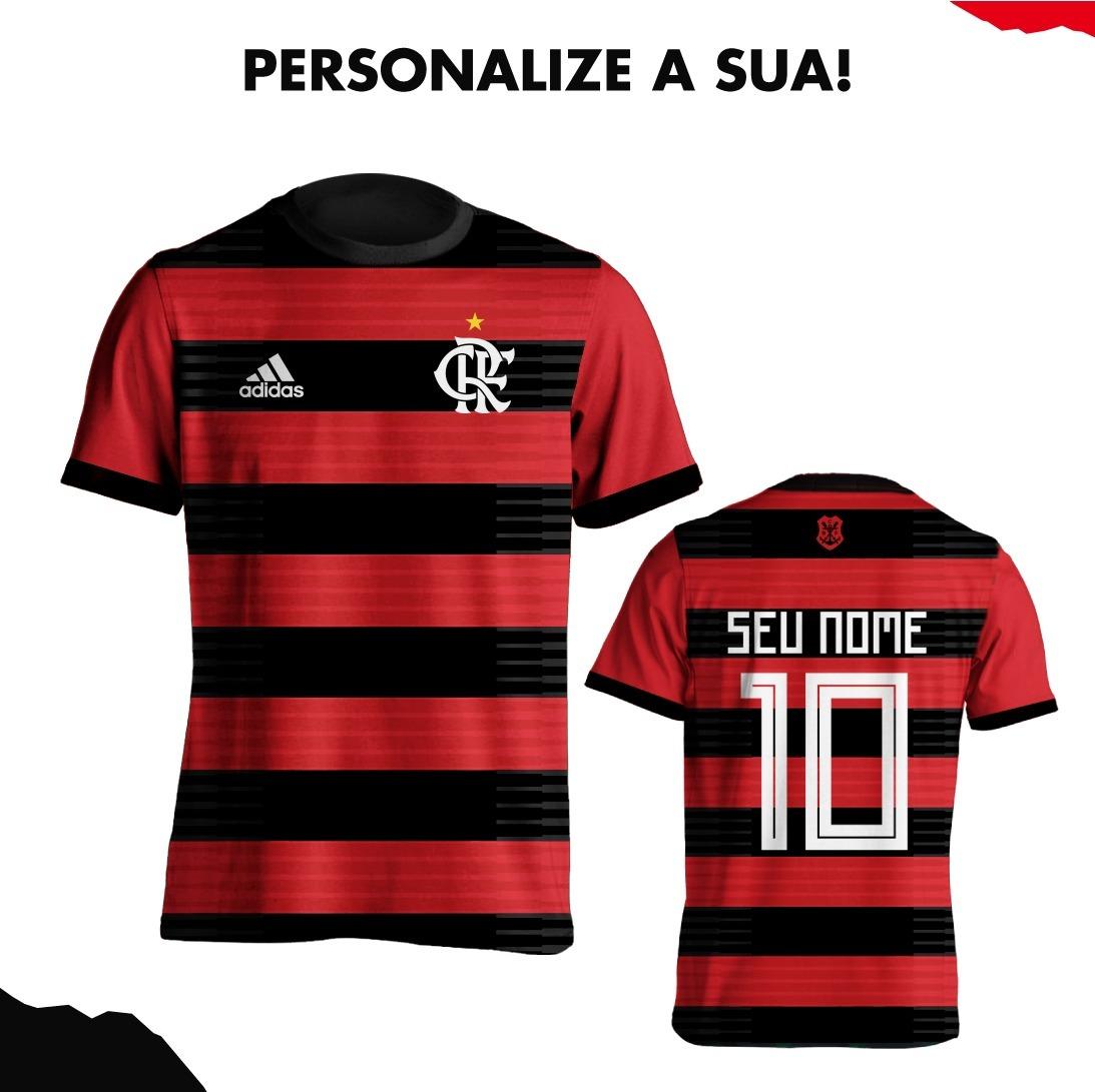 camisa do flamengo 2018 nova camisa personalizada. Carregando zoom. 134149f8f07f3