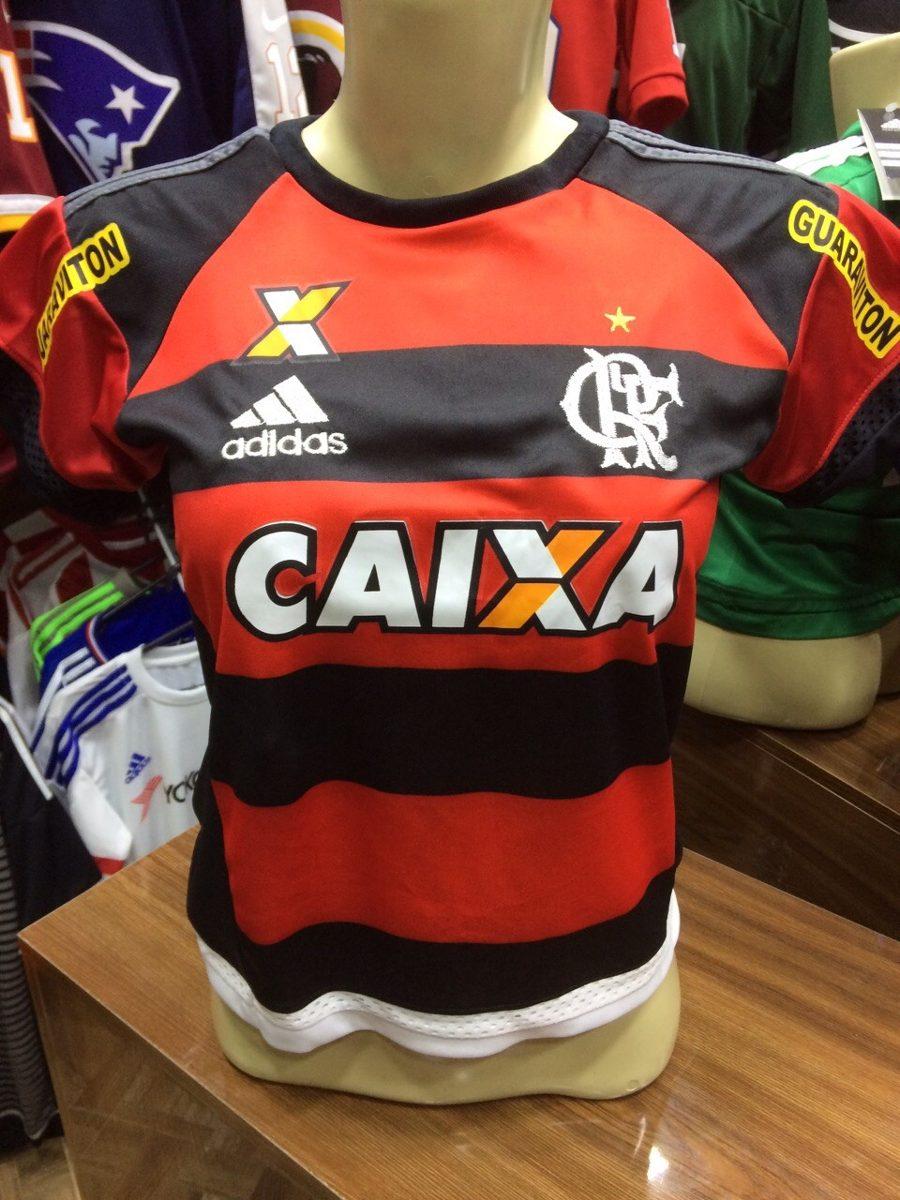 b347755467539 Camisa Do Flamengo Guerreiro 2015 - Feminina - R  69