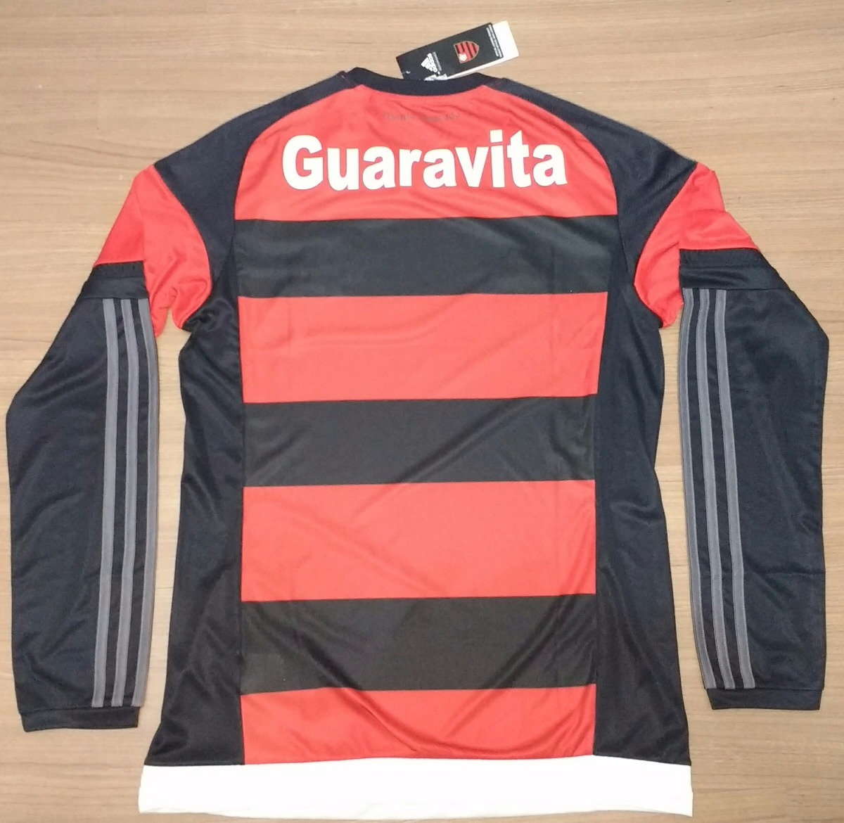 camisa do flamengo original 100% adidas manga longa 2015- 16. Carregando  zoom. 019095d6eb873