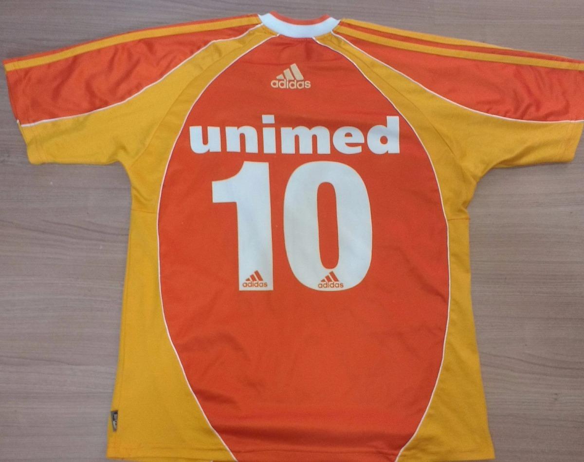 camisa do fluminense adidas laranja do centenário 2002 - 02. Carregando  zoom. 185fb96d2ad38