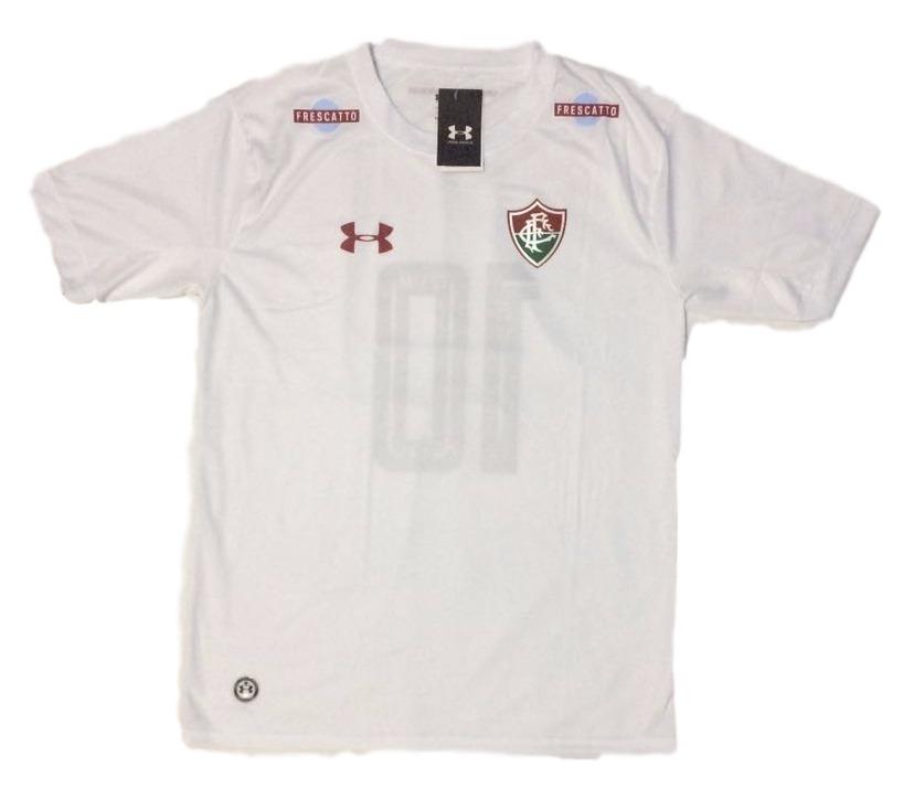 camisa do fluminense branca listrada lançamento nova flu rio. Carregando  zoom. a59e62e80bcdc
