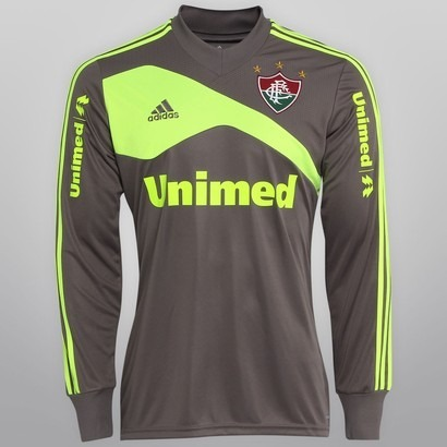 Camisa Do Fluminense Infantil Goleiro 2014 adidas - R  120 556933855bc31