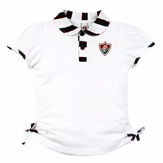 fe844cd7fc Camisa Do Fluminense Infantil Polo Oficial Menina - R  56
