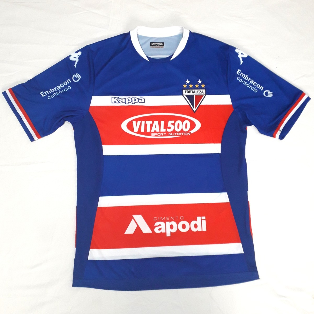 b84689f5b9b01 Camisa Do Fortaleza Kappa Tricolor Original Nova - R  120