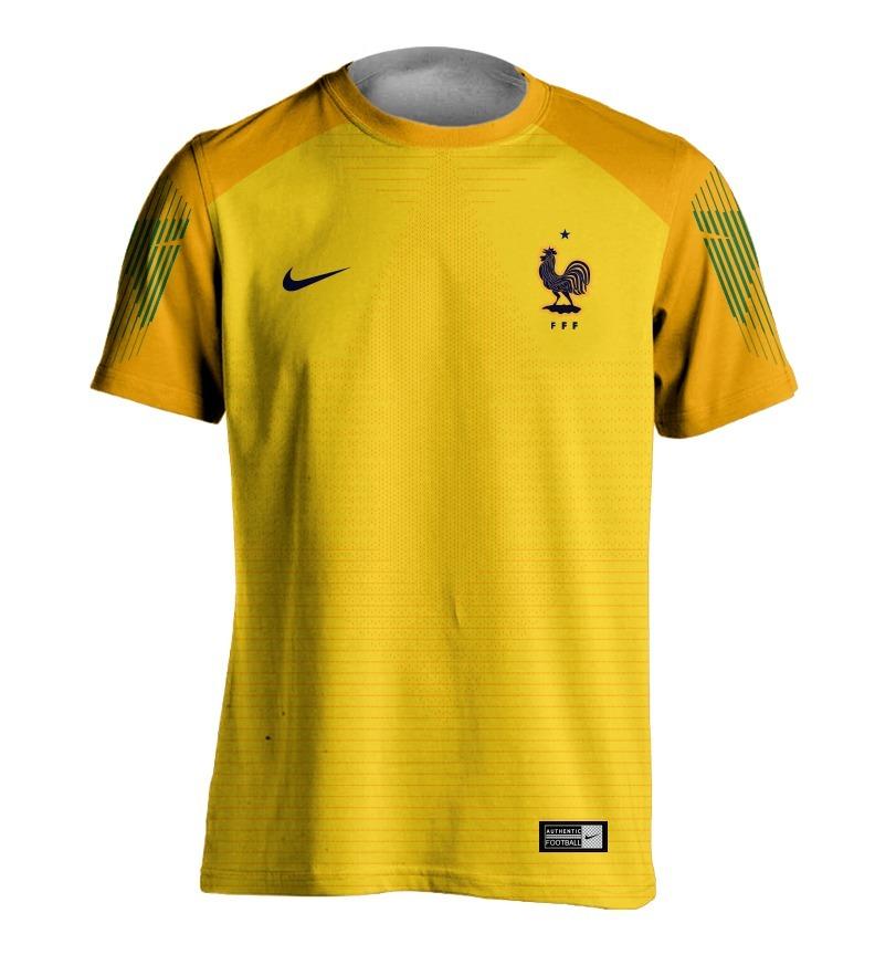 e6e79a4554 camisa do goleiro da frança amarela copa 2018 personalizada. Carregando  zoom.