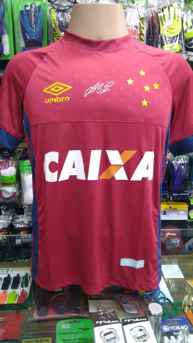 00114b35669ce Camisa Do Goleiro Fábio Cruzeiro Vermelha 2018 19 Nova - R  70