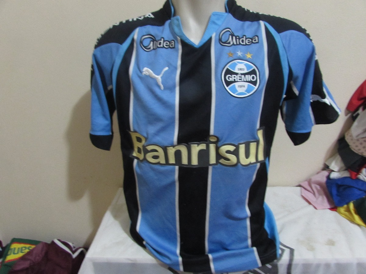 Camisa Do Gremio 2010 Preparada Para Jogo - R  80 ef453ba5af332
