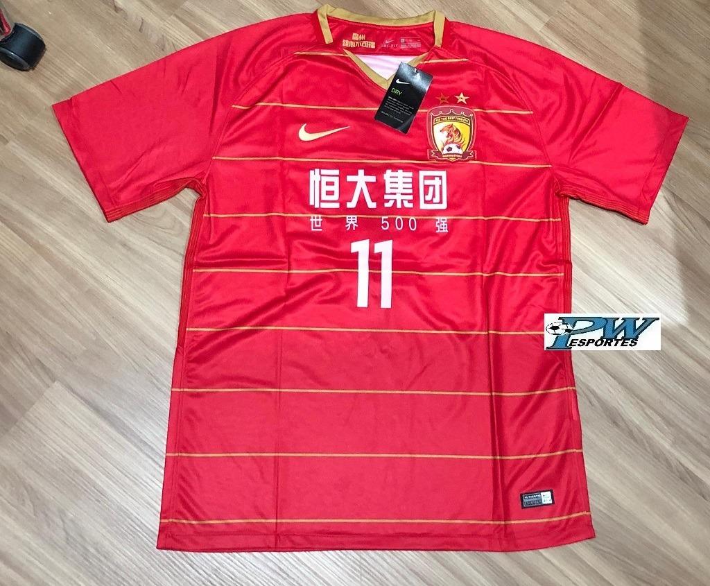 4343d4ccd camisa do guangzhou evergrande 2019  11 goulart. Carregando zoom.