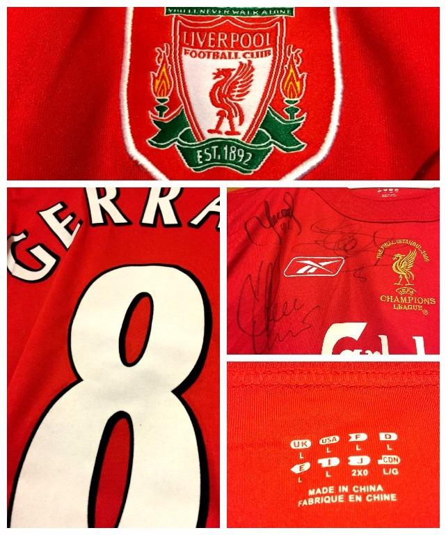 3a9efadb27 Camisa Do Liverpool Final Champions 2005 Autografada Todos - R  799 ...