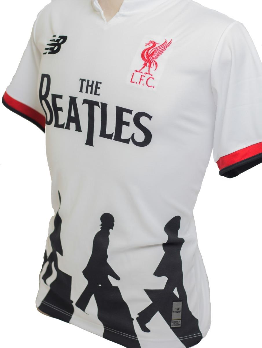 on sale d84cb f8376 Camisa Do Liverpool Homenagem The Beatles