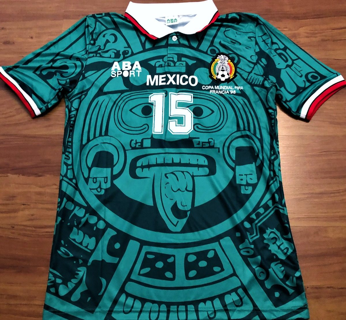camisa do méxico copa do mundo 1998 hernandez  15 rara. Carregando zoom. 86520438fc6ab
