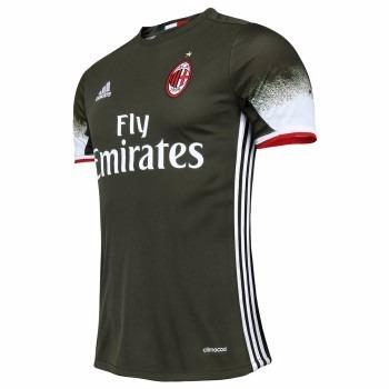 Camisa Do Milan Verde Escuro Listrada Nova Itália Time - R  89 1737c2b87d6c5