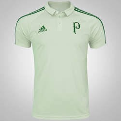 Camisa Do Palmeiras Polo Viagem 17 18 Branca - R  59 8c48b6fed1408