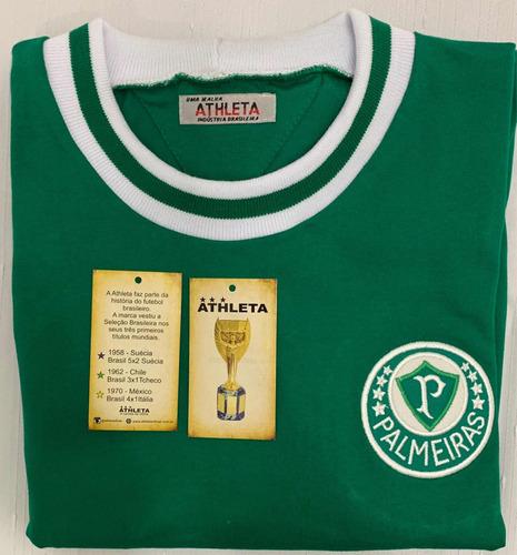 camisa do palmeiras retro anos 1970 original athleta + auten