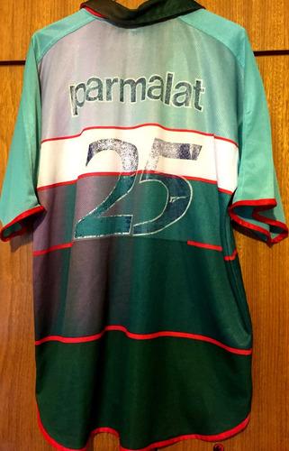 camisa do palmeiras usada & autografada galeano rio sp 2000