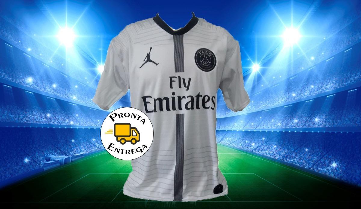 fa45e523f6f camisa do psg michael jordan 2018  2019 branca  mbappé 7. Carregando zoom.