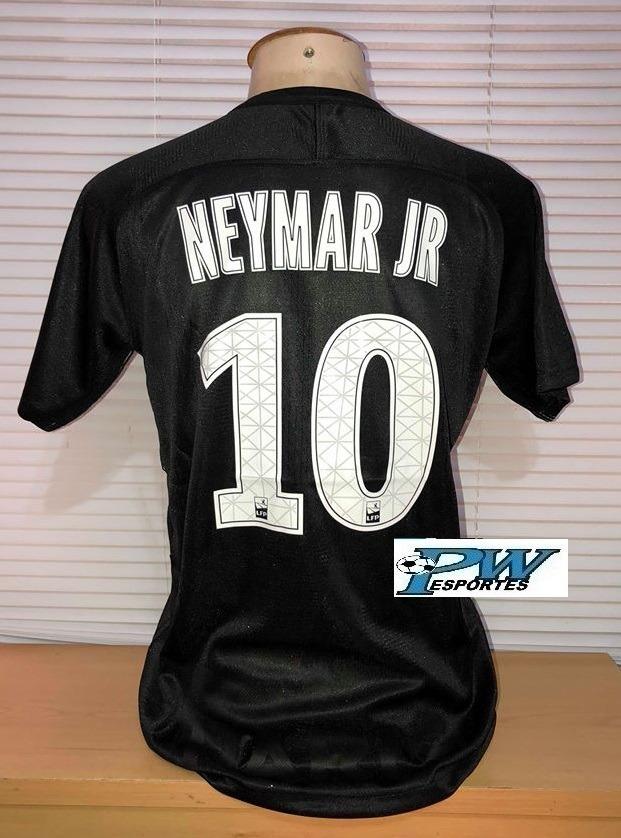 badf69994c5be camisa do psg preta nike jogador 2018  10 neymar jr. Carregando zoom.