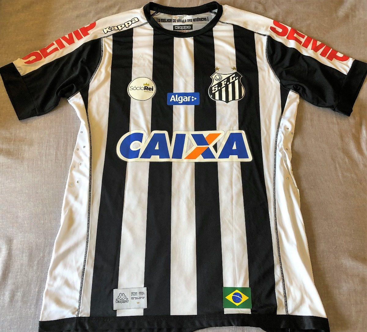 camisa do santos brasileirão 2017 copete  36 de jogo. Carregando zoom. 7d91372b10903
