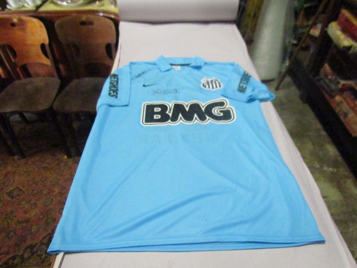 Camisa Do Santos F.c Autografada Pelo Neymar E P.h Ganso - R  200 57238814880d1