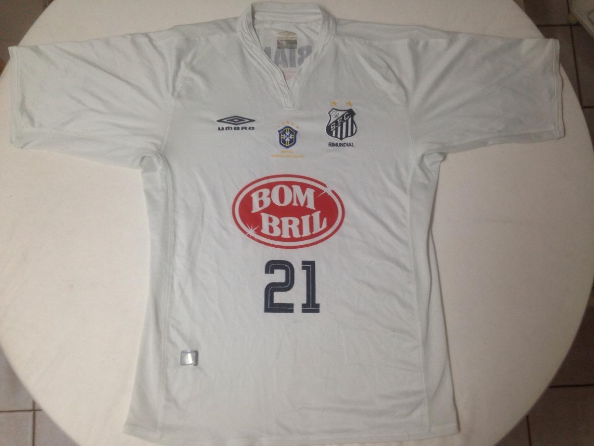 camisa do santos fc - numero 21 - ano 2003 - bombril - umbro. Carregando  zoom. e9d7df7f0728f