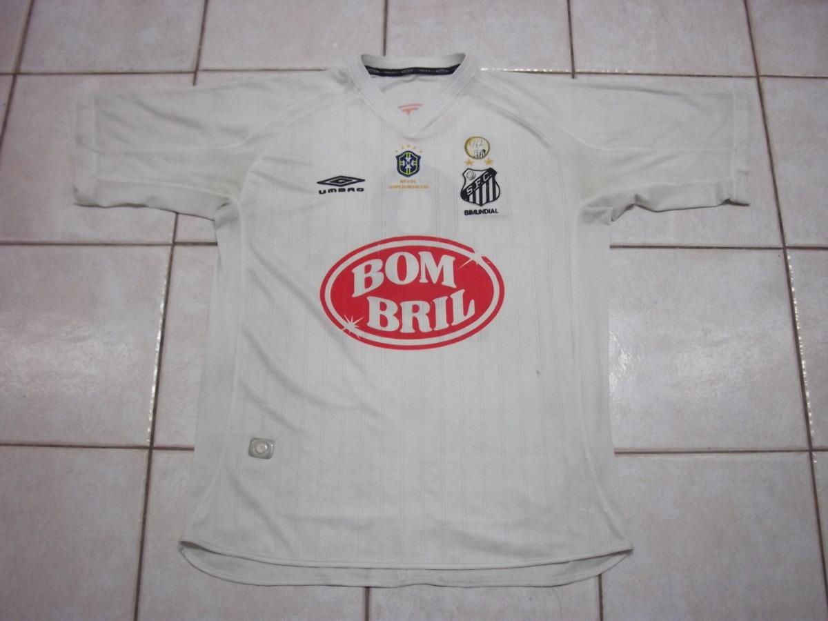Camisa Do Santos - Nº 9 - 2003 Umbro Bombril - Patch 90 Anos - R ... c7cffef0c0783