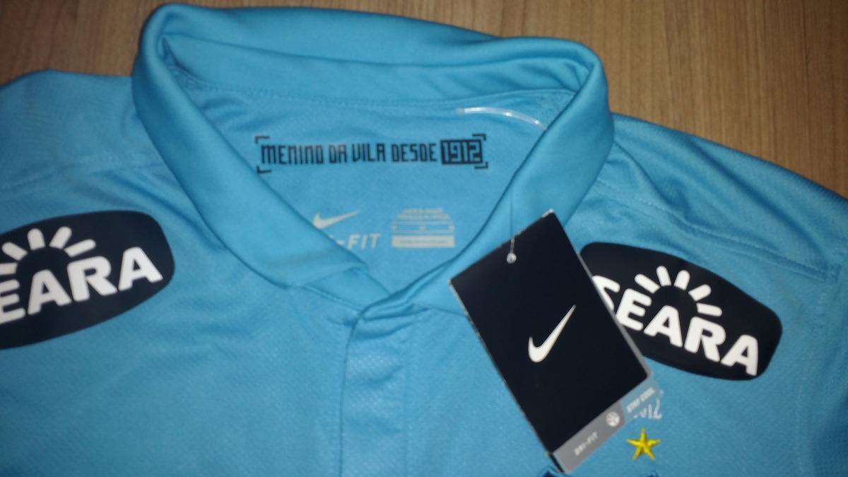 camisa do santos nike extra gg centenário azul neymar nike. Carregando zoom. 10f7436453b3d