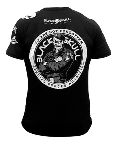 camisa dry fit modelo bope - black skull