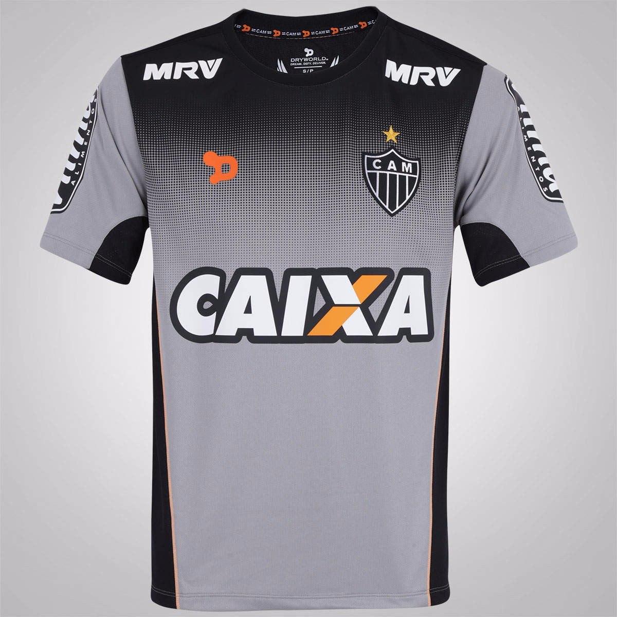 Camisa Dryworld Atlético Mineiro Treino Ct 2016 Oficial - R  129 3047a842e0837