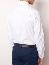 camisa dudalina branca algodão egípcio com abotoadura