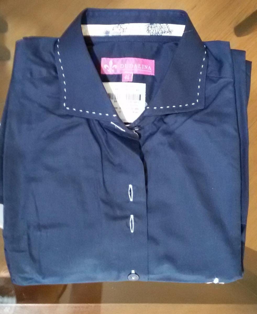 camisa dudalina feminina algodão egípcio marinho  preta 46. Carregando zoom. a64b89cb3f1ee
