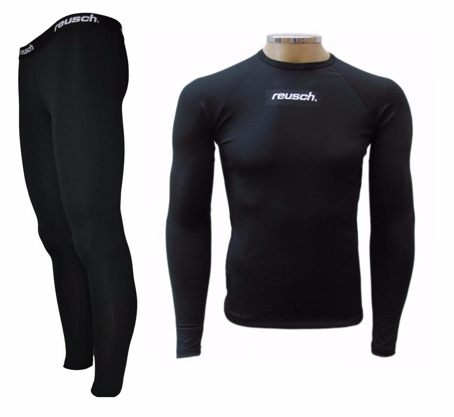 camisa e calça térmica reusch de compressão. Carregando zoom. 013e153b8a507
