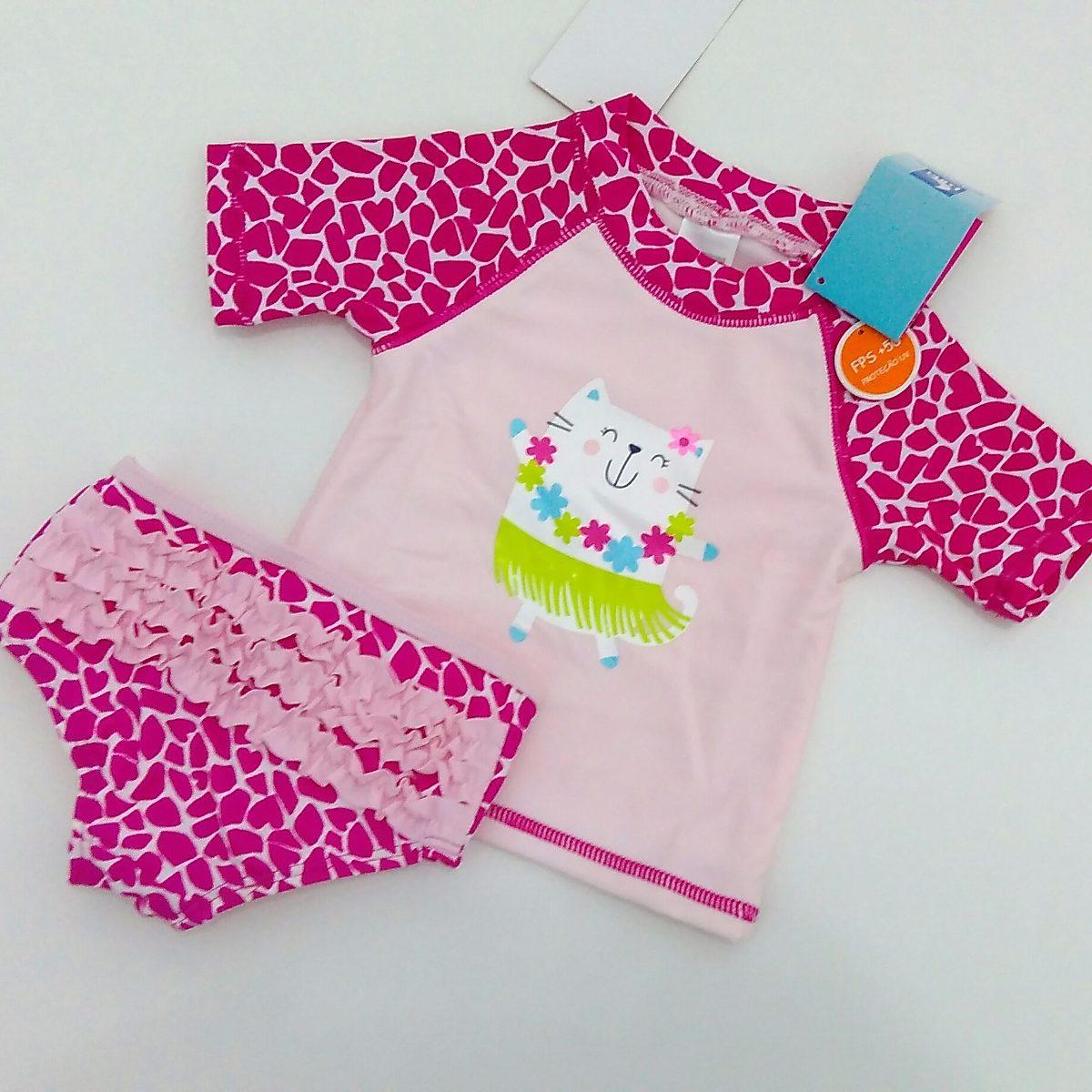 camisa e calcinha com proteção solar fps 50+ para bebê. Carregando zoom. 4afa01f3989