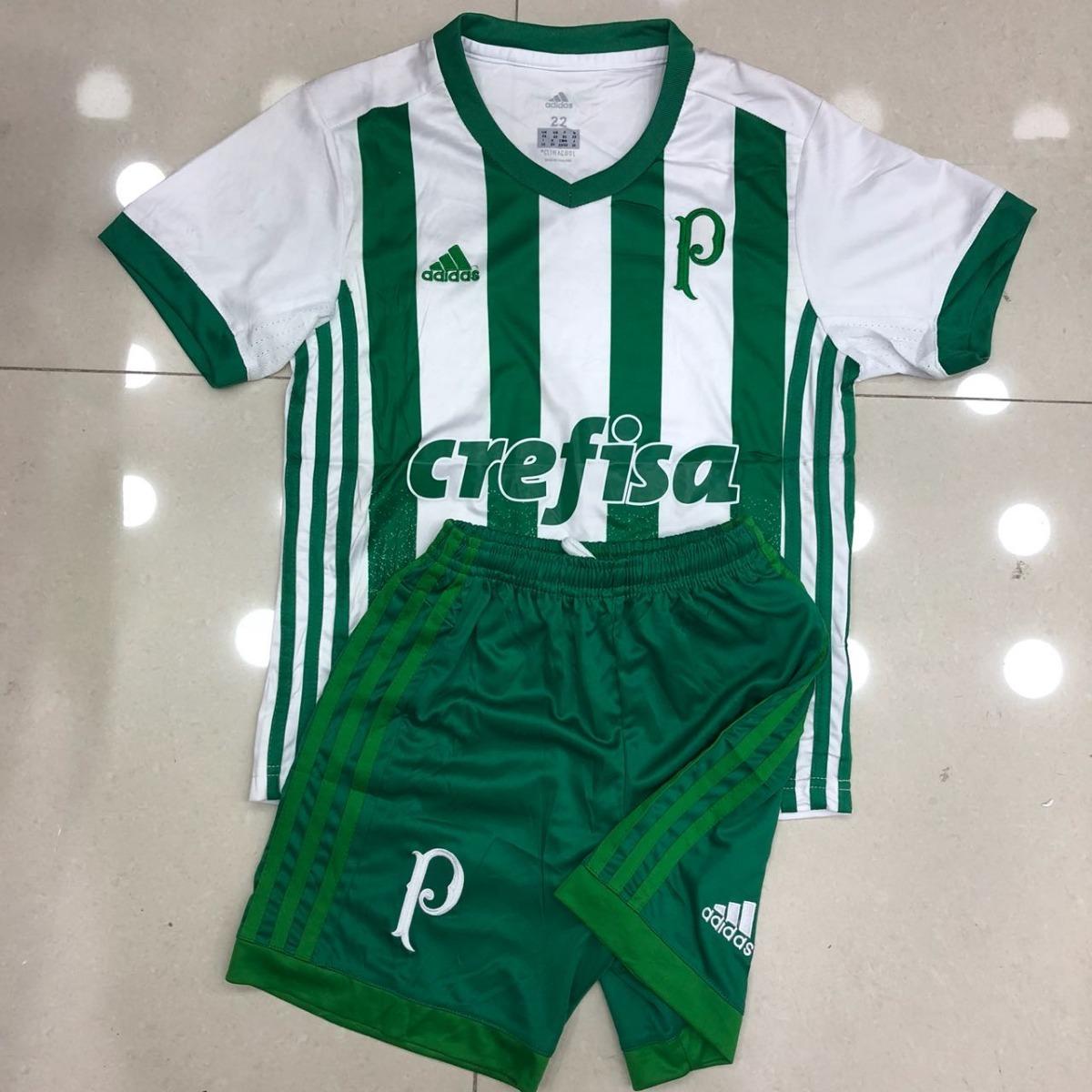 b12b103a39 Camisa E Shorts Uniforme Infantil Palmeiras adidas Verdão - R  160 ...